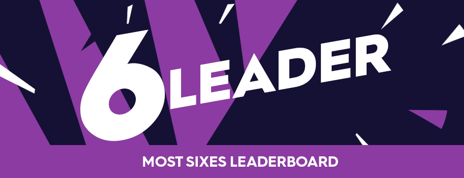 6 Leader - Most Sixes Leaderboard